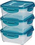 Amazon Basics 6pc Airtight Food Storage Containers Set, 3 x 0.8 Liter
