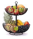 Chefarone Obst Etagere 34 cm - XL Obstschale für mehr Platz auf der...