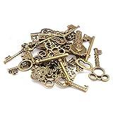 Goodplan Gemischte Packung mit 40 Vintage Keys Antique Bronze Key...