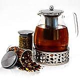 JOYTASTE Teekanne Glas mit Stoevchen Set - Designer Tee-Equipment |...