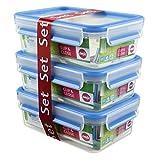 Emsa 508558 Clip & Close Frischhaltedosen   3-teiliges Set   3 x 1 L  ...