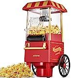 Popcornmaschine Retro, 1200W für Zuhause Popcorn Maschine Maker mit...
