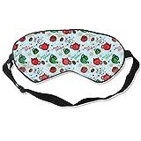 Weihnachtliches Geschirr Augenmaske zum Schlafen, Schlafmaske, weich...