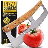 Loco Bird Pizzaschneider - Pizzamesser aus Edelstahl mit Bambusgriff -...