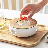Stövchen Teekanne Basis, Porzellan Heizung, Keramik Weiß Teewärmer,...