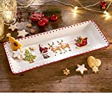 Weihnachtsgeschirr - Kuchenplatte Traditional Christmas - ca. 40 x 16...