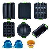 14 Stück Silikon Antihaft Backform Springform Set,BPA-frei,...