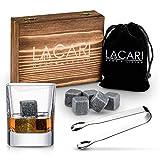 LACARI Whisky Steine Set | [9x] Wiederverwendbare Eiswürfel | Whisky...