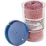 Wurstgarn 200 g / 220 m rot/weiß Küchengarn in Spenderbox mit...