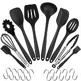 WisFox 10 Stück Silikon-Küchengeräte, Kochgeschirr Stücke...