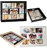 XL Tablett -  eigene Fotos & Bilder  - aus Holz - weiß - auch zur...