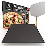 Nero Intenso® Pizzastein inkl. Profi Pizzaschieber für Backofen &...