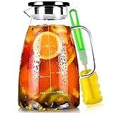 Aofmee Karaffe, Karaffe 2 Liter, Glaskaraffe, Wasserkaraffe, Karaffe...