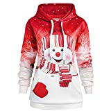 Fenverk Damen Frauen Frohe Weihnachten Schneeflocke Tops Sweatshirt...