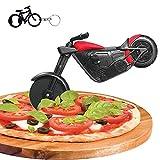 Motorrad Pizzaschneider, Edelstahl Kunststoff Lustiger Pizzaroller...