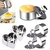 Nizirioo 4 Pcs Cooking Ring Set, Dessert Ring, Tortenring Kleine...