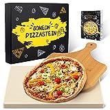 BOMEON Pizzastein für Backofen und Gasgrill, Küchen Zubehör...