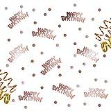 Oblique-Unique® Happy Birthday Geburtstag Konfetti Roségold mit...