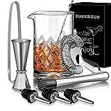 SUPERSUN 9 Stück Mixingglas/Rührglas für Cocktails, Cocktail Mix...