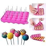 Queta Silikon Cake Pop Backform Cake Pop Formen, 20 runde Formen...