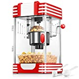 Popcornmaschine, Profi Retro Heiße Butter 300W Popcorn Maschine, 120g...
