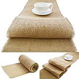 Roban Fashion Juteband Tischläufer Tischband Natur braun breit 25cm...