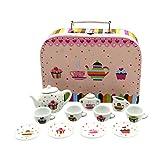 GICO Tee Service Set für Kinder im Koffer aus Hartpappe mit...