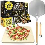 Loco Bird Pizzastein für Backofen & Gasgrill inkl. Pizzasschieber -...