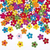 Naler 120 x Fliz Blüten Bunte Stoff Blümchen Deko Blumen für...