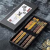 Bosdontek Japanische Sushi EssstäBchen 5 Pairs EssstäBchen Holz...