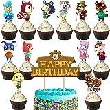 Tier Cake Toppers Miotlsy 50 Stück Cupcake Deko, Dschungel Themed...