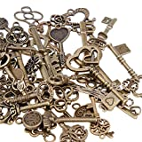 GOLDGE 80er Vintage Deko Schlüssel Bronze Schlüssel Retro Anhänger...